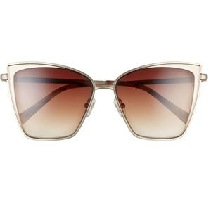 NEW Diff sunglasses Becky Cat eye rose gold wine